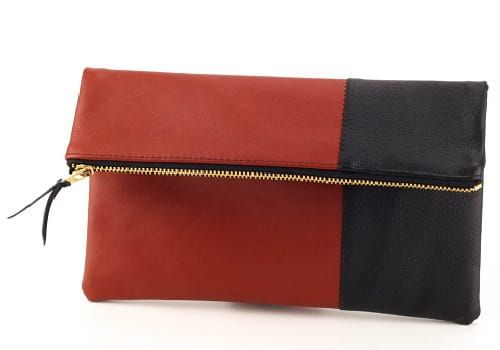 Leather-Foldover-Clutch