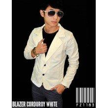 Blazer Corduroy White