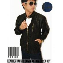 Jacket Leather Combination Corduroy