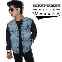 Jacket Varsity Denim Washed