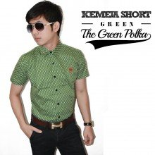 Kemeja Short The Green Polka