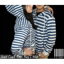 Jacket Couple Stripe Navy n White