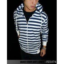 Jacket Stripe Navy n White