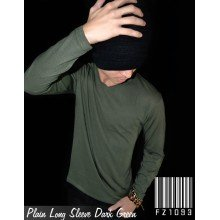 Plain Tee Long Sleeve Dark Green
