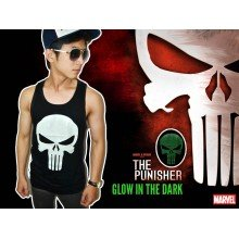 Tank Top Punisher - Glow in the dark - SUPERHERO T-SHIR