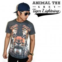 Animal Tee Tiger Lightning