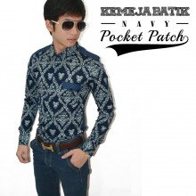 Kemeja Batik Pocket Patch