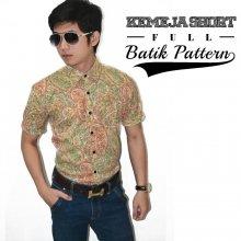 Kemeja Short Full Batik Pattern