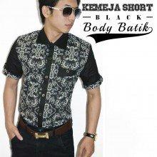 Kemeja Body Batik Black