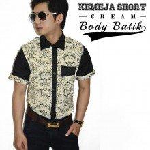 Kemeja Body Batik Cream