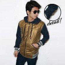 Leather Jacket Gold