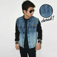 Jacket Varsity Denim illuminate