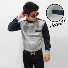 Kemeja Body Two Tone Stripe