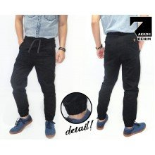 Joggers Pants Chino Black Kakkoii