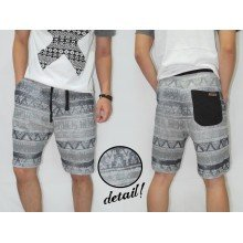 Sweat Shorts Faded Tribal Soft Grey