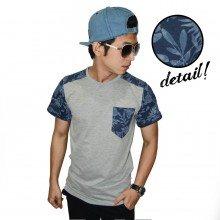 Batik Leaf Combination Grey