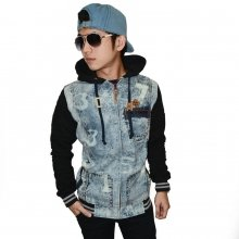 Jacket Denim Hoodie Number