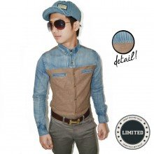 Kemeja Denim Half Knit *LIMITED EDITION