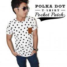 Polka Dot Pocket Patch Tee
