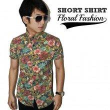 Kemeja Short Floral Fashion