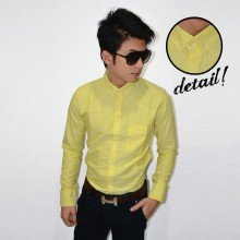 Plain Oxford Shirt Yellow