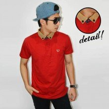 Polo Suede Neck Red