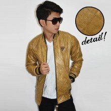 Jacket Varsity Leather Snake Skin