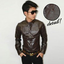 Kemeja Rocker Leather Brown