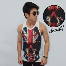 Mens Tank Top England Skull