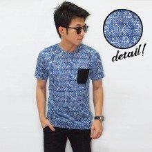 Blue Webbing Batik Fashion Tee