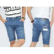 Celana Pendek Jeans Faded Soft Blue