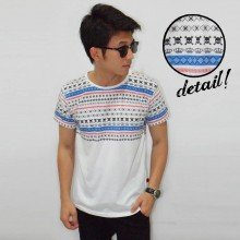 Half Skull Tribal White Tee