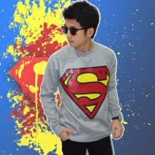 Sweater Superman Soft Grey - Superheroes