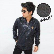 Varsity Leather Shiny