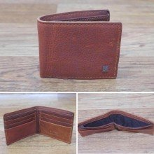 Dompet Leather With Pin Brown 6005
