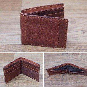 Dompet Leather Side List Brown 8003