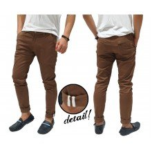 Celana Panjang Chino With Ribbon List Brown