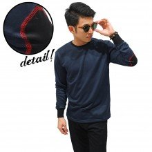 Long Sleeve Terry Elbow Patch Navy