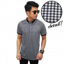 Polo Gingham Check Black and White