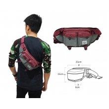 Waist Bag Premium Double Pocket Red
