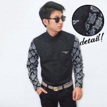 Kemeja Casual Sleeve Black Batik