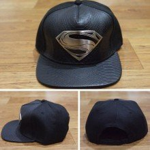 Topi Snapback Man Of Steel Combine Leather