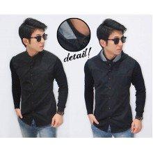 Shanghai Hooded Shirt Black