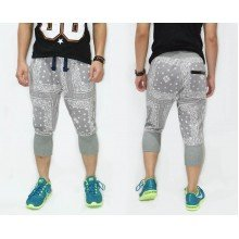 Sweatpants Mid Calf Ethnic Tribal Frame