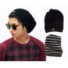 Korean Kupluk 2 In 1 Stright Line Black