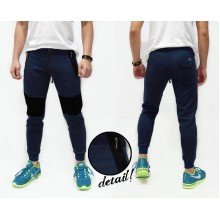 Sweatpants Above Knee Patch Navy