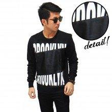 Sweatshirt Brooklyn Middle Leather Black