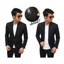 Blazer Casual Organic Wool Black