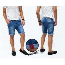 Celana Pendek Jeans Double Stripe Blue