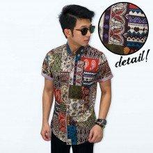 Kemeja Short Batik Perca Modern
